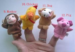 Vente en gros HOT 24 pcs = 2lot nouveauté poupée animale 12 Zodiac Finger Puppets Histoire racontant Poupée Enfants Enfants Bébé Jouets Éducatifs RPG utiliser le jeu de rôle Jouet Gro