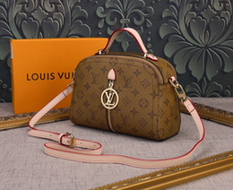 french bags brands 2019 - New French high-end brand ladies shoulder bag fashion leather bag leather party travel women's double-layer bag han