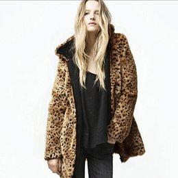 Leopard print maLe online shopping - FHILLINUO Leopard Print Winter Women Men Faux Fur Coat Zipper Sexy Casual Warm Soft Winter Female Male Fur Coat Plus Size Outerw