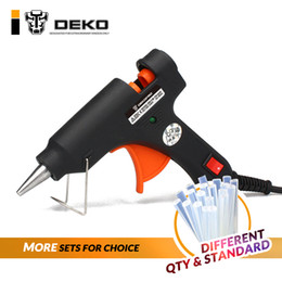 ElEctric hEating gun online shopping - DEKO W W V EU Plug Hot Melt Glue Gun with Glue Stick Industrial Guns Thermo Electric Heat Temperature Tool