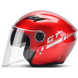 c9ca0569 2018 NEW ARRIVE Andes B-639 double lenses half face Motorcycle helmet  electric bicycle helmets anti-fog cycling helmet