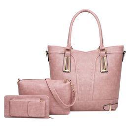 Deep Tote Bag Australia - 3 Sets High Quality Patent Leather Women Handbags Luxury Brands Tote Bag+Ladies Shoulder Bag+Clutch Bag Bolsa Feminina