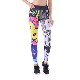 Girls Graffiti Leggings Australia - Girls Yoga Leggings Sport Pants Fitness Leggings Woman Graffiti High Waist Workout Quick Dry Sportwear Gym Pants