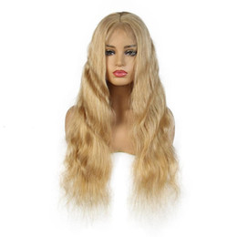 medium wigs for women UK - Brazilian Body Wave lace front human hair wigs For Black Women #27 Middle Part Remy Wig Full lace wigs