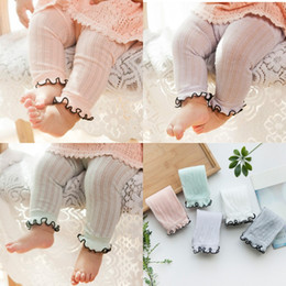 Infant Solid Color Tights Australia - Baby Summer Cotton Leggings Infant Solid Breathable Mesh Nine Pants Newborn Baby Summer Light Color Leggings