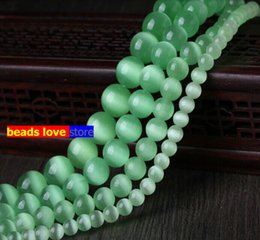 """$enCountryForm.capitalKeyWord Australia - opal gemstone Pick Size 4.6.8.10 12MM Smooth Light green Cats Eye Beads Natural Stone Spacer Loose beads 15.5\"""" Strand Mexican Opal(F00229)"""