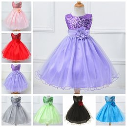christmas sequins Australia - Kids Designer Clothes Girls Sequins Princess Wedding Dresses Backless Ball Gown Christmas Children Party Costume Kids Clothing 30pcs DW4471