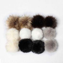 Table Hair Australia - USPS 12 Pcs Women Cute Lovely Rabbit hair ball DIY Faux Fox Fur Fluffy Pompom Ball for Hair Fluffy Knitting Hat Hats Hiking Caps