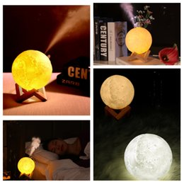 $enCountryForm.capitalKeyWord UK - 3D Moon Lamp Humidifier 880ML Night light Air Humidifier Essential Oils Diffusers USB Ultrasonic Humidificador Facial Steamer T2I5163
