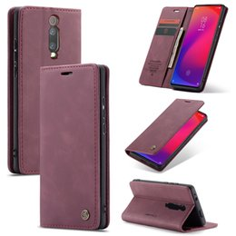 Wholesale For Xiaomi MI T Redmi K20 PRO NOTE CC9 Caseme Retro Wallet Leather Case Flip Magnetic Stand TPU ID Card Phone Book Skin Cover