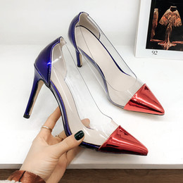$enCountryForm.capitalKeyWord Australia - Hot Sale-PVC Transparent Women Pumps Sexy Stiletto Heel Patent Leather Pointed Toe Fashion High Heels Shoes for Women Office Dress Shoes