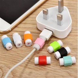 cable saver protector UK - USB Cable Phone Holder Protector Saver Earphone Protection Wire Cover Data line Earphone Cord Protection Sleeve Wire Protector 500pcs