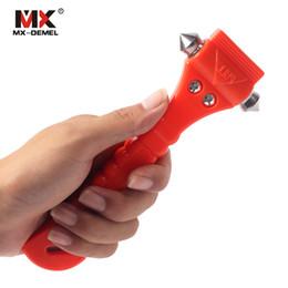 $enCountryForm.capitalKeyWord Australia - Outdoor Mini Car Safety Hammer Life Saving Escape Emergency Hammer Seat Belt Cutter Window Glass Breaker Car Rescue Red