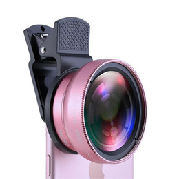 Super wide angle iphone online shopping - Universal clip universal mobile phone professional MM X UV super wide angle macro two in one mobile phone lens FOR iphone Samsung