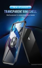 $enCountryForm.capitalKeyWord NZ - Luxury Car Holder Suction Case For iPhone X XR XS Max Magnetic Bracket Finger Ring For iPhone 6 6S 7 8 Plus Soft Silicone shell