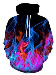 $enCountryForm.capitalKeyWord Australia - 2019 new moving blue flame 3D printing digital printing hooded sweater male