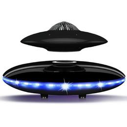Опт колонки Смарт Bluetooth Магнитная левитация качество UFO стиль дизайн супер бас стерео беспроводная зарядка HIFI звук LED Красочные огни
