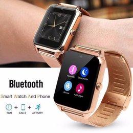 Wristwatch Sim Card Australia - Smart Watch GT08 Z60 Men Women Bluetooth Wrist Smartwatch Support SIM TF Card Wristwatch For Apple Android Phone PK DZ09
