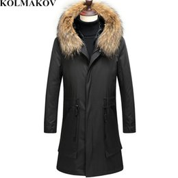 Men Hairs Australia - KOLMAKOV Winter Men High Quality Down Jackets Men's Fashion Rabbit's Hair Liner Down Jacket Business Thicken Parkas Coat Men 3XL
