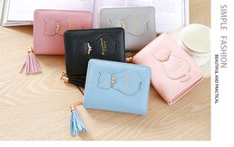 $enCountryForm.capitalKeyWord NZ - Fashion Tassel Zipper Short Wallet Female Coin Purse For Girls Small PU Leather Women Wallets Credit Card Pocket Dropshipping
