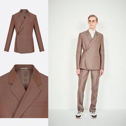 c8d512c05a Unique Design Groom Wedding Tuxedos Side One Button Slim Fit Mens 2 Pieces  Pants Suits Formal Dinner Party Prom Blazer Suits