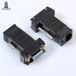 Wholesale Laptop Drop Shipping Australia - Factory Price Hot Selling New VGA Extender Female To Lan Cat5 Cat5e RJ45 Ethernet Female Adapter Drop Shipping