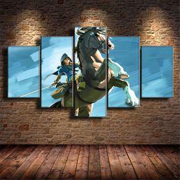 $enCountryForm.capitalKeyWord Australia - Breath of The Wild,The Legend of Zelda 2017 Games ,5 Pieces Home Decor HD Printed Modern Art Painting on Canvas (Unframed Framed)