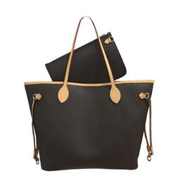 Großhandel Totes Handtaschen Schulter-Handtaschen-Frauen-Beutel-Rucksack-Frauen-Einkaufstasche Geldbeutel Brown-Beutel-Leder-Kupplungs Fashion Wallet Taschen 18882