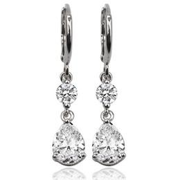 $enCountryForm.capitalKeyWord Australia - 1 Pair Water Droplets Pendants Classic Earrings With Rhinestones Fashion Luxury Design Earrings For Women Girls Brillant Cute