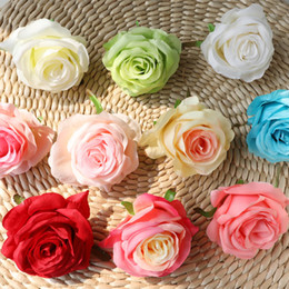 $enCountryForm.capitalKeyWord Australia - 10 pcs lot Wedding decoration artificial rose silk flower head home decoration flower arrangement wedding arch DIY rose material fake flower