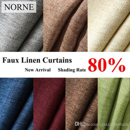 $enCountryForm.capitalKeyWord NZ - NORNE Fabric Solid Color Faux Linen Blackout Curtains for Living Room Modern Bedroom Window Curtain kitchen Curtains Blinds