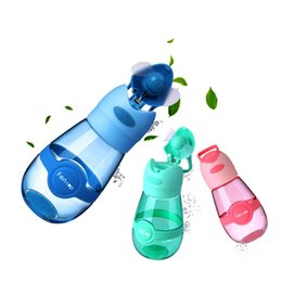 Chinese  3 Colors 400ml Fan Cup Fans Water Bottle Outdoor Portable Sports Cup Travel Mug Cool Fan Cups USB Charge Baby Feeding Cups CCA11714 10pcs manufacturers