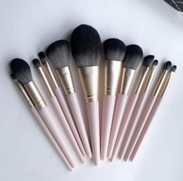 blush makeup hair NZ - Professional Loose powder makeup brushes set 12Pcs brush tools for Eye shadow blush cosmetics wood handle soft nylon hair DHL Free