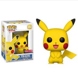 $enCountryForm.capitalKeyWord UK - Top quality Funko POP Pikachu toys Funko POP Anime Cartoon Pikachu PVC dolls cartoon animals toys Furnishing articles best Gifts
