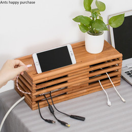 $enCountryForm.capitalKeyWord Australia - Wooden Wire Storage Box Home Power Cord Cable Storages Safety Socket Socket Board Container Power Board Storage