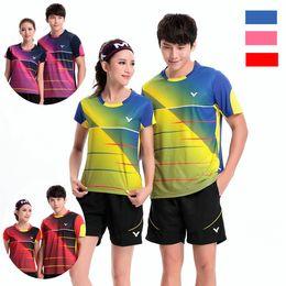 Sportswear T Shirt Badminton Australia - B6 VICTOR Badminton Suit Sportswear for Men & Women Short Sleeve T-shirt Leisure Running Basketball casual wear Table tennis B2101