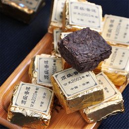 Tuo Tea online shopping - Hot sales g Ripe Puer Tea Brick Yunnan fragrant Organic Natural Pu er Cooked Compressed Puer Tea Brick Mini Tuo Gold Tin Foil Packing