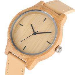 Ladies hand cLocks online shopping - female clock Women Watches Casual Hand made Wooden Wristwatch Ladies Girl Real Leather Minimalist Woman s Clock Relogio Feminino Female