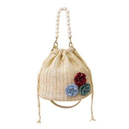 $enCountryForm.capitalKeyWord UK - Brand Straw Bags for Women Beach Bag Personality Crossbody String Handbag Lady Vintage Handmade Fashion Pearl Shoulder Bag#H20