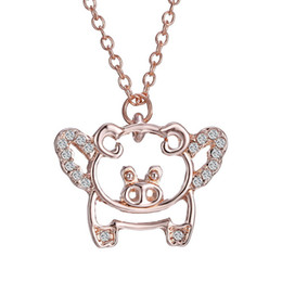 $enCountryForm.capitalKeyWord NZ - High Quality Lover Pet Pig Pendant Necklace Hollow Designer Rhinestone Pendants Necklaces for Womens men fashion Jewelry Gift