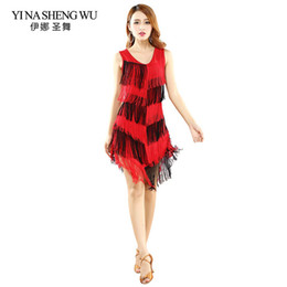 Wholesale New fringed Latin dance dress female fashion sexy Latin dance practice dress competition performance skirt colors