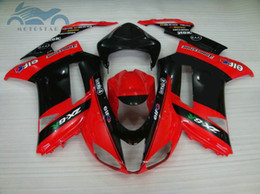 Red black kawasaki zx6R online shopping - Free customize Fairing kit for Kawasaki Ninja ZX6R red black fairings set ZX6R LD49