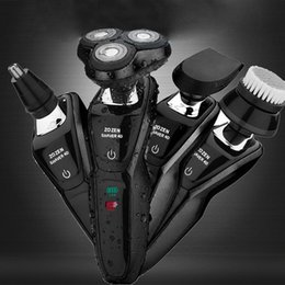 $enCountryForm.capitalKeyWord Australia - 4D Rotary Wet Dry Electric Shaver Multi-function Men USB Car Charging Body Wash Razor Nose Hair trimming Beard knife home travel