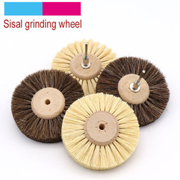 furniture wheels wholesale Australia - 1pcs Abrasive Sisal Filament or Horse Hair Brush Polishing Grinding Buffing Wheel Woodworking For Furniture Rotary Drill Tools