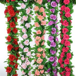 $enCountryForm.capitalKeyWord Australia - 2Pcs Artificial Flowers String Silk Rose High Simulation Low Price Sale Ours En Preserved Rose Fake Wedding Decoration