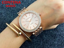 Unique Gifts For Ladies Australia - fashion brand unique woman diamond watch free shipping Fashion sapphires ladies bracelet Stainless steel clock gift for women