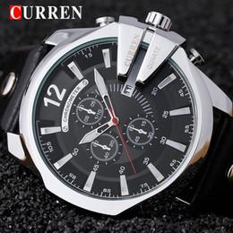 Curren Men Sports Leather Watches Australia - Curren 8176 Mens Watches Top Brand Luxury Gold Male Watch Men Fashion Leather Strap Sport Quartz Watch Outdoor Casual Wristwatch