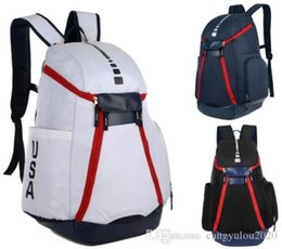 Discount outdoor style mens backpack - New National Team Mens Backpack Style Men Designer Bags Teenager Black White Dark Blue Outdoor Sports Basketball Backpac