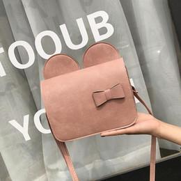 Big Ladies Handbags Australia - Summer 2019 Fashion New Handbags High Quality Pu Leather Women Bag Sweet Lady Mickey Big Ears Bow Shoulder Bag Simple Phone Bag