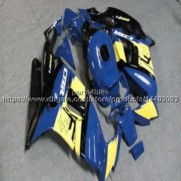 $enCountryForm.capitalKeyWord Australia - Custom+Screws ABS yellow blue Fairing For Honda CBR600F3 1997-1998 CBR600 F3 97 98 CBR 600F3 Body Kit motorcycle panels